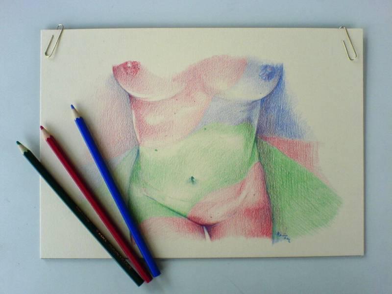 Akt Akvarelove Pastelky Vendy Atelier