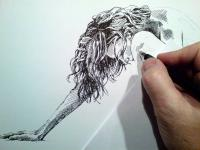 Akt - pohled na začátek kresby
