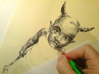 Čert - kresba