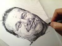 První portrét - perokresba
