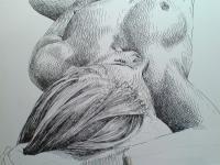 Finále kresby - akt