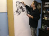 Opice - už se řadí - kresba