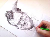 Petr Nečas - perokresba