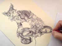 Jokšír, motorkář, oblečky na psa, oblečený pes