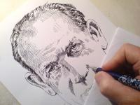 Antonín Zápotocký - kresba