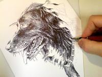 Pes Dášenka - kresba