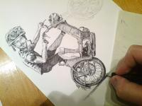 Jawa 50 - kresba