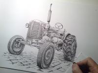 Zetor 25A - kresba
