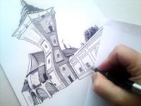 Moravské Budějovice - kresba