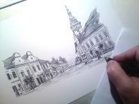 Moravské Budějovice - 1928 - kresba