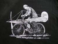 Velocipedista - aviatik - tisk na tričko