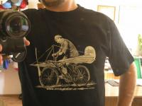 Velocipedista - aviatik - aplikováno na tričko