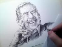 Václav Havel - finále perokresby
