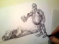 Blanický rytíř - kresba