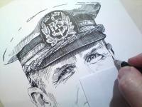 Kapitán Štěpán R. - perokresba