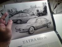 Tatra 603 X - ilustrace pro časopis VETERAN SK