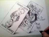 Černý Petr - karikatura