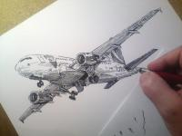 Airbus 318 - perokresba