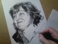 Jarka Drechslerová - perokresba