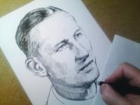 Reinhard Heydrich - perokresba