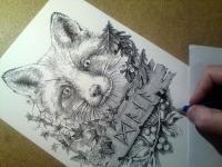 Liška - návrh na tetování