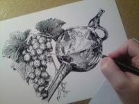 víno - perokresba