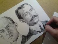 Bratři Wrightovi - perokresba