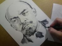Vladimir Iljič Lenin - perokresba