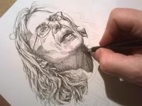 Perokresba - portrét
