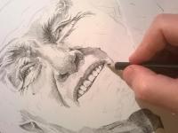 Zdeněk Mahler - portrét perokresba