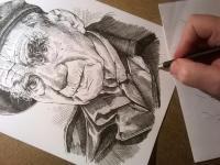 Viktor Wellemín - perokresba