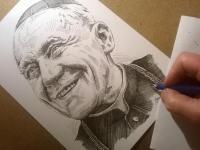 Kardinál Beran - perokresba