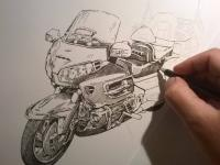 Honda Goldwing 1800 - perokresba