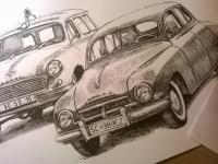 Škoda 1201 a Škoda 1202 - perokresba