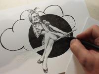 Čarodějnice - perokresba