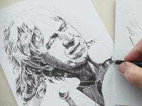 Rudolf Švaříček - perokresba
