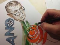 Kudlanka Babiš - karikatura