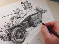 Leichter Panzerspähwagen SdKfz. 221 - perokresba