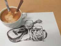 Pivo - víno - kytara a kafe