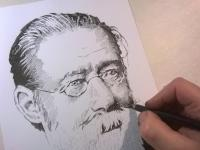 Bedřich Smetana - perokresba