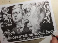 Babiš a Hamáček - karikatura
