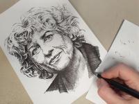 Olga Havlová - perokresba