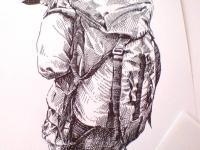 Malý turista - kresba