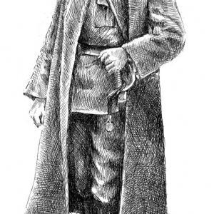 plk. Švec - kresba