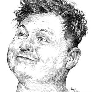 Portrét - perokresba