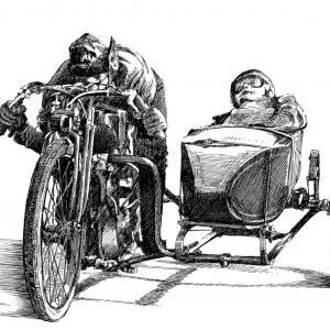 Motorka sajda - veterán