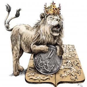 Český lev chrání korunu