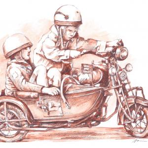 Děti a motocykl Indian