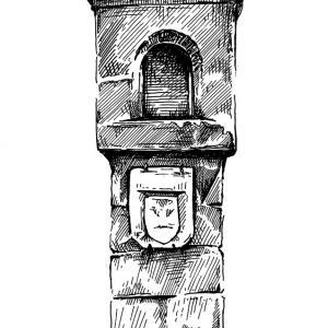 Boží muka s erbem mikuláše Rochovského z Petrovic
