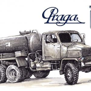 Praga V3S - fekální vůz